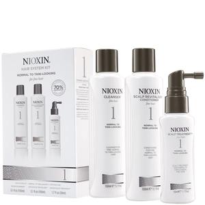 NIOXIN SYSTEM 1 - Pachet complet pentru par natural cu structura fina impotriva caderii normale a parului.