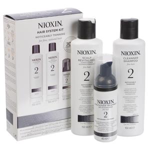 NIOXIN SYSTEM 2 - Pachet complet pentru par natural cu structura fina impotriva caderii puternice a parului.