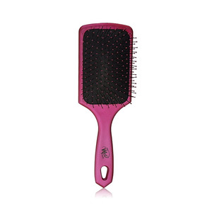 The Wet Brush Paddle Detangling Punchy Pink - Perie plata pentru descalcit - Roz sidefat