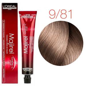Vopsea LOreal Majirel  9.81 - Blond foarte deschis moca cenusiu - 50ml