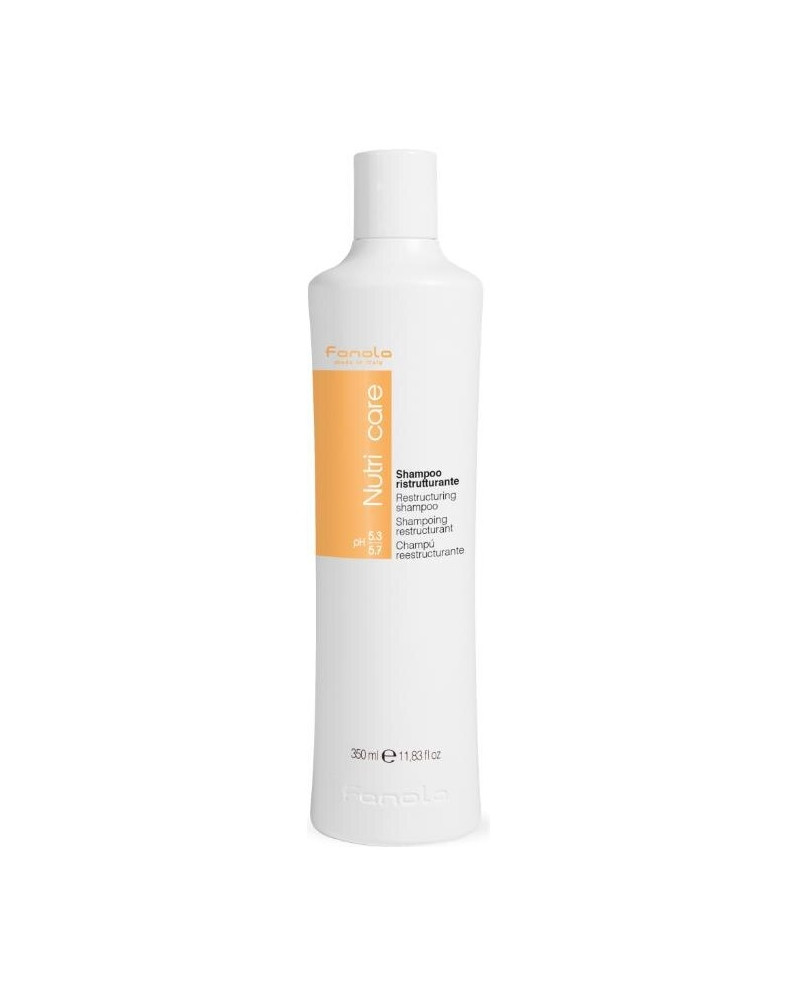 Fanola Nutri Care Restructuring Shampoo - Sampon conceput pentru ingrijirea parului uscat, slabit si rebel 350 ml