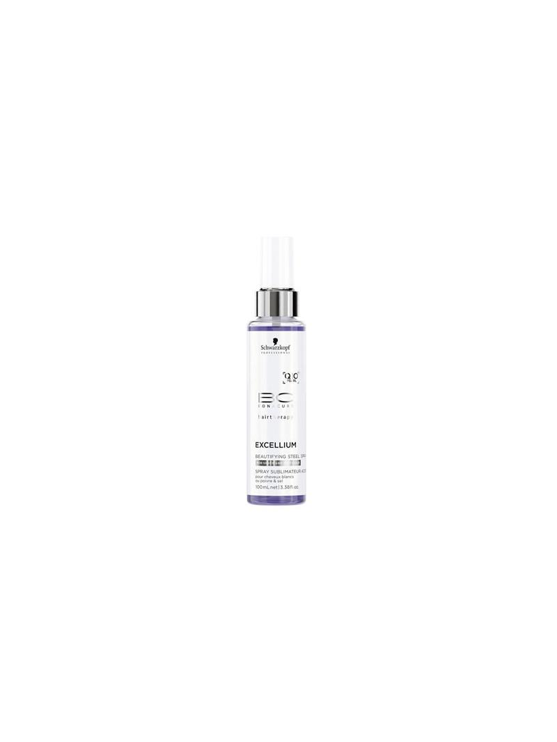 Schwarzkopf BC Excellium Beautifying Steel Spray - Spray pentru parul carunt cu efect anti-ingalbenire - 100 ml