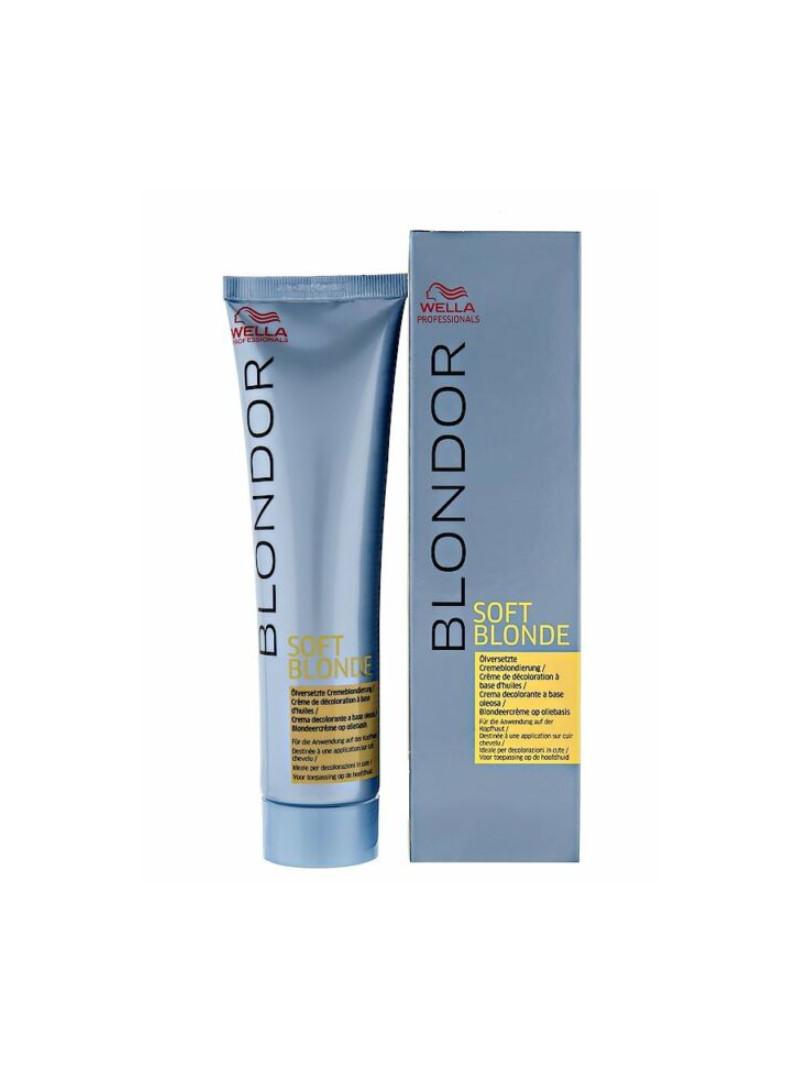 Wella Professionals Blondor Soft Blonde - Decolorant crema bazat pe combinatii speciale de uleiuri - 200 g.