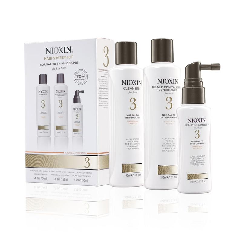 NIOXIN SYSTEM 3 - Pachet complet pentru par vopsit cu structura fina impotriva caderii normale a parului.