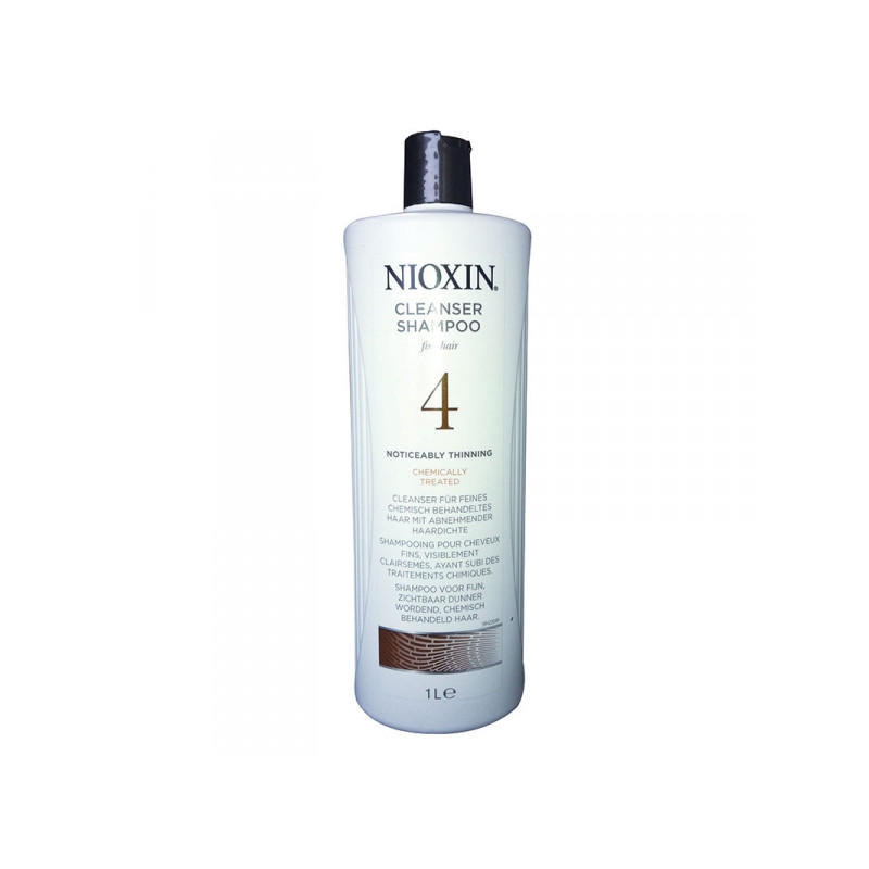 Nioxin 4 Scalp Cleanser - Sampon Anticadere si indesare par fin normal  - 300ml / 1000ml