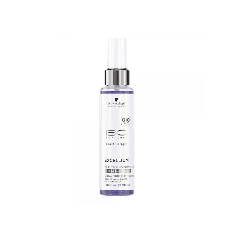 Schwarzkopf BC Excellium Beautifying Silver Spray - Spray iluminator cu pigment pentru parul alb sau carunt - 100ml