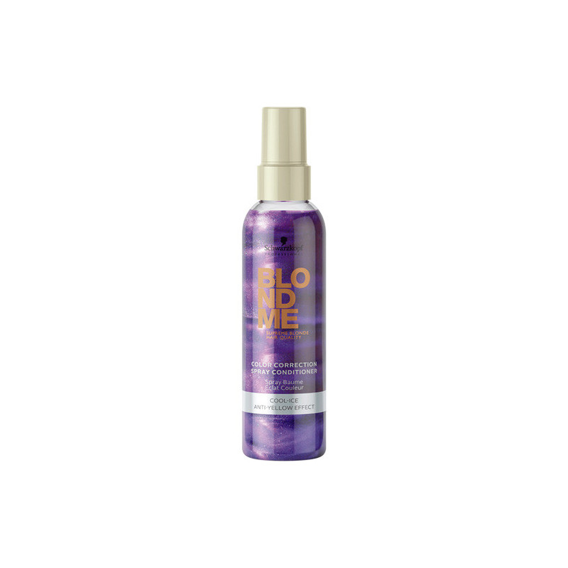 Schwarzkopf Blond Me Color Correction Spray Conditioner - Cool Ice - Balsam leave-in cu pigment violet pentru blonduri reci - 150 ml