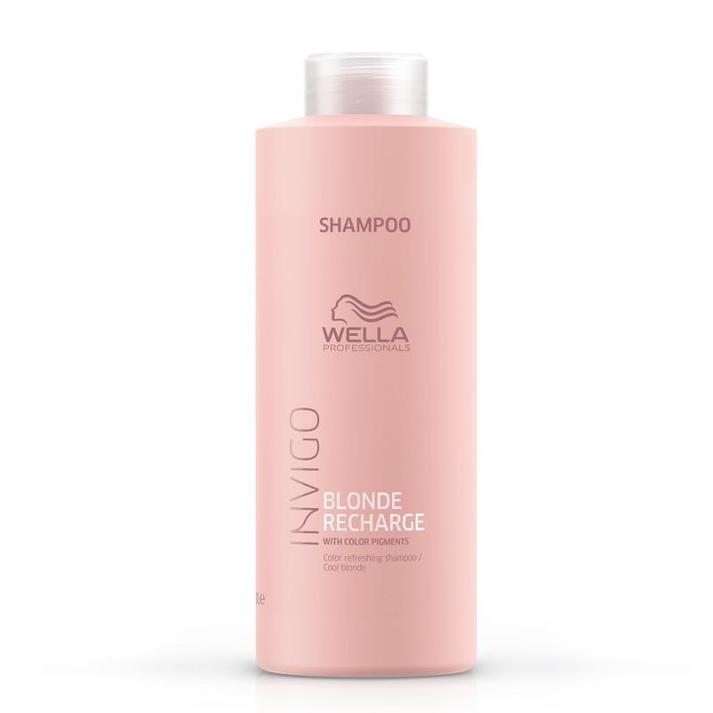 Wella Professional INVIGO Color Recharge Cool Blond Shampoo - Sampon pentru improspatarea culorii care neutralizeaza galbenul 250ml/1000ml