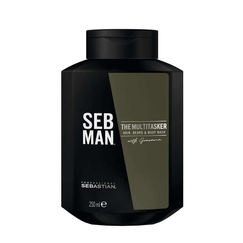 Sebastian Professional SEB MAN THE MULTI-TASKER 3in1 Hair, Beard & Body Wash - Șampon pentru păr, corp și barbă 250ml