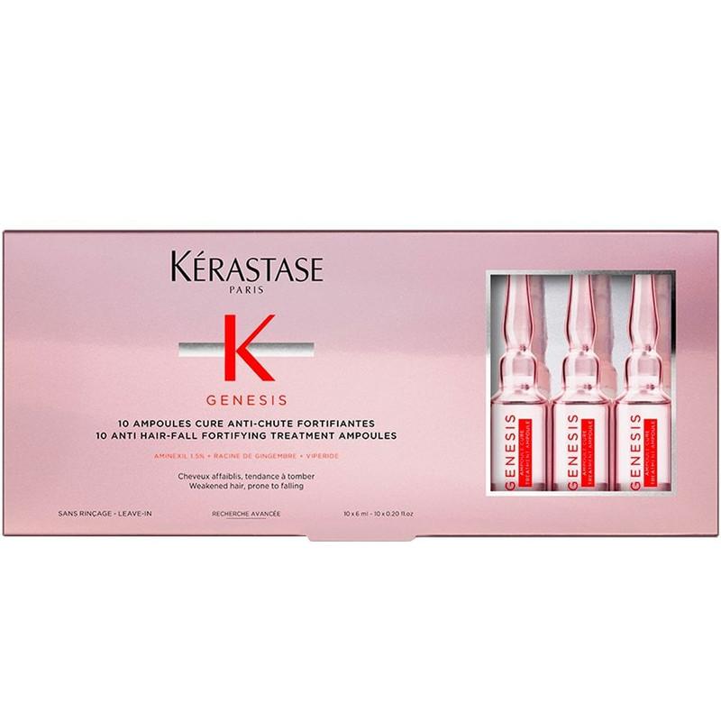 Kerastase Genesis Ampoules Cure Anti-Chute Fortifiantes Anti Hair-Loss - Fiole pentru trament fortifiant impotriva caderii parului - 10x 6ml