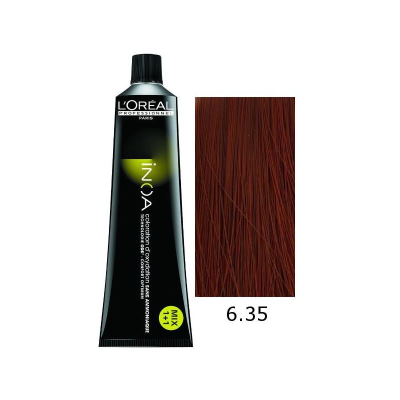 Vopsea INOA 6.35 - Blond inchis auriu rosiatic - 60ml