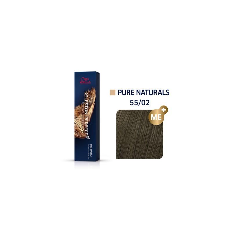 Wella Professionals Koleston Perfect Me Hair Color - 55/02 Intense Light Brown/Natural -60 ml