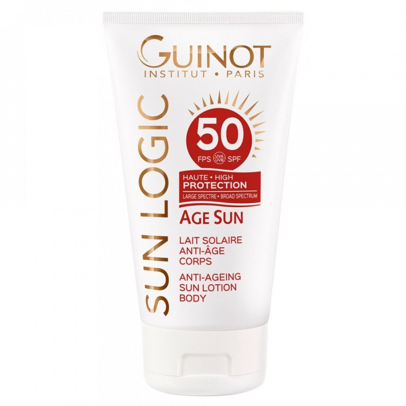 Guinot Sun Logic Body Lotion SPF 50 - Lotiune de corp protectoare pentru expunerea la soare 150ml
